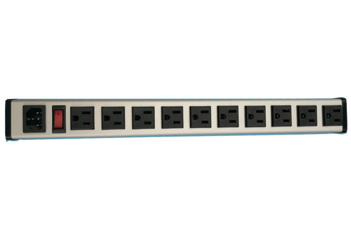 10 Way Rack Mount PDU Power Distribution Unit With Surge Protection Customized