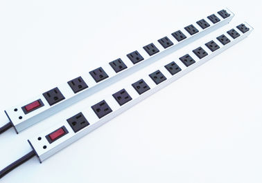 12 Way Multi Outlet Power Strip Bar, Industrial 12 Plug Perpanjangan Timbal Dengan Switch